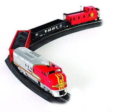 Bachmann Train Santa Fe Flyer Ready-to-Run HO Scale Trains Set