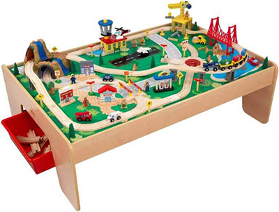 KidKraft Waterfall Mountain Train Sets and Table