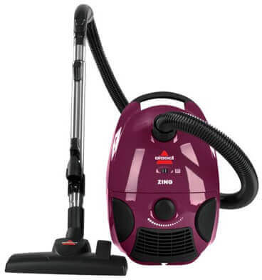 BISSELL Zing Bagged Canister Vacuum Cleaner, Purple, 4122