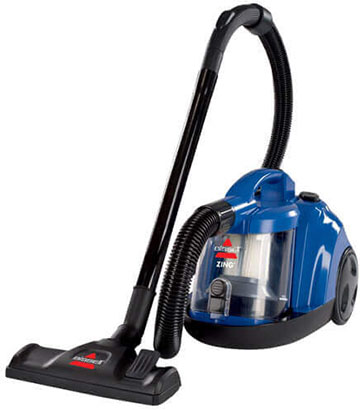 BISSELL Zing Bagless Canister Vacuum Cleaner, Caribbean Blue