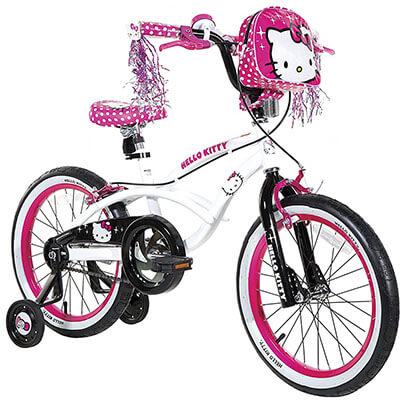 Hello Kitty 18-Inch White Bike for Girls