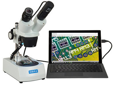 Cordless Dual LED Lights Stereo Microscopy