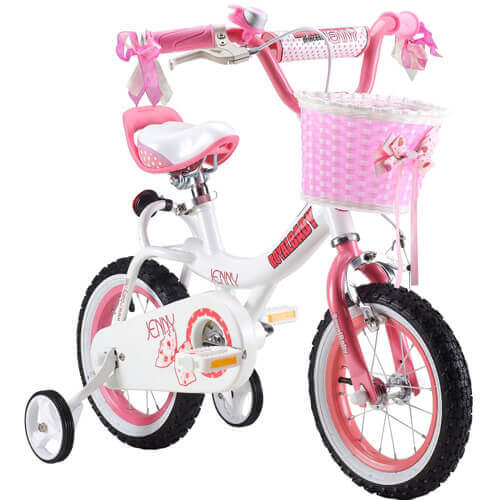 RoyalBaby Jenny Girl's Bike with a Basket and Training Wheels