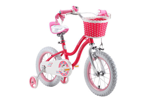 RoyalBaby Stargirl Girls Bike with a Basket and Training Wheels