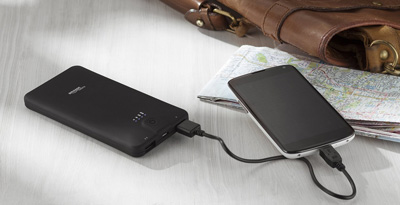 AmazonBasics Portable Power Bank- 10,000mAh