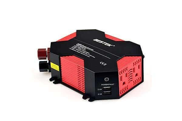 BESTEK 400W Power Inverter 110 Volt Car Adapter with 4 USB Charging Ports