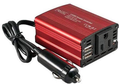 Foval 150W Car Power Inverter with 3.1A Dual USB Charger