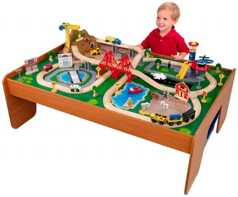 KidKraft Rides Around Train Set and Table