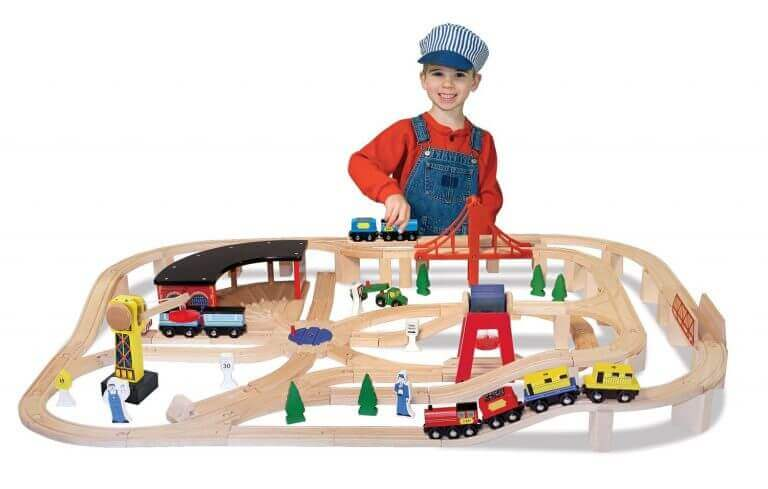 Melissa and Doug Deluxe Wooden Train Set