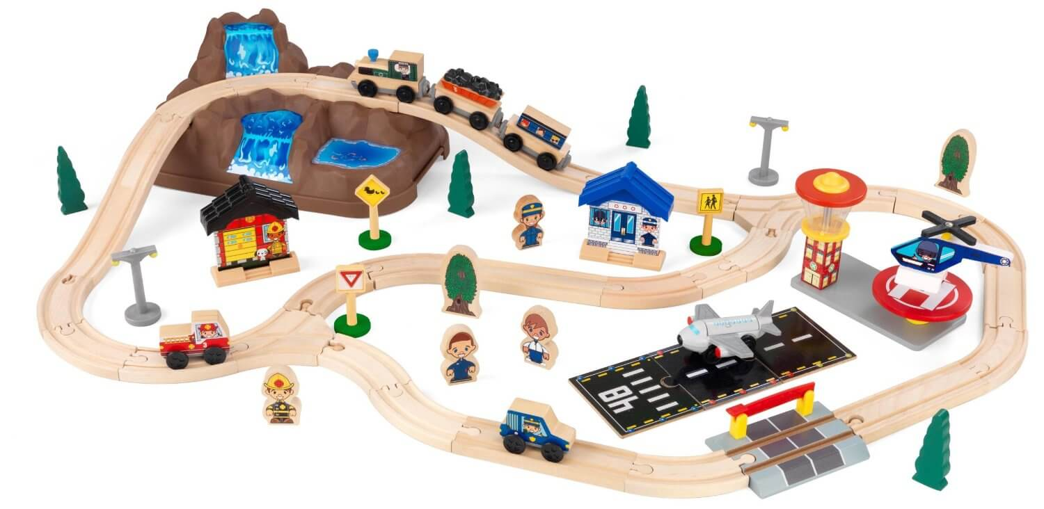 KidKraft Bucket Top Mountains Train Set