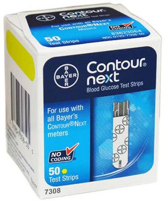 Contour-Next Bayer Blood Glucose Test Strips