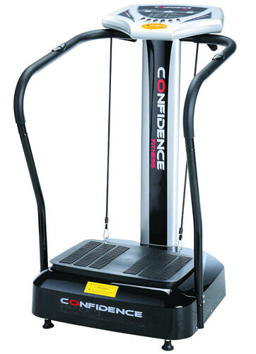 Confidence Fitness Slim Full Body Vibration Platform Fitness Machine, Blac