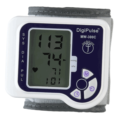 DigiPulse Cuff Wrist Blood Pressure Monitor