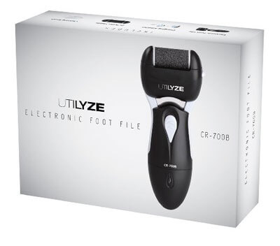UTILYZE Rechargeable Electronic Foot File CR-700B Pedicure Electric Callus Remover