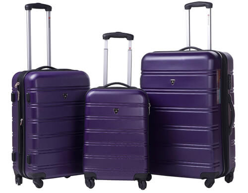 Merax Travelhouse Luggage 3 Piece Expandable Spinner Set