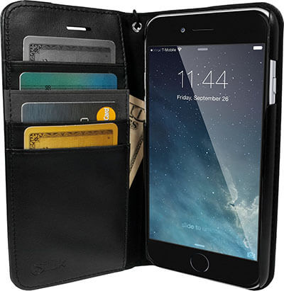 Silk Black Onyx Wallet Case for iPhone 7 Plus