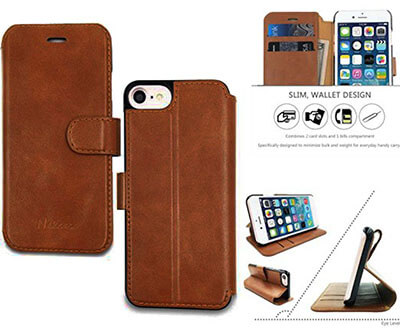 Nakcase Slim Leather iPhone Case