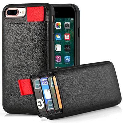 LAMEEKU Wallet Case for iPhone 7 Plus