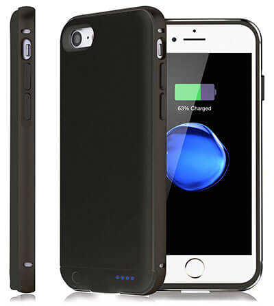 Kattiettery External Battery Charger iPhone 7 Case