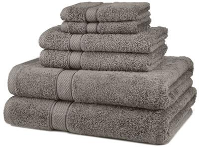Pinzon Egyptian Cotton 6-Piece Towel Set, Grey