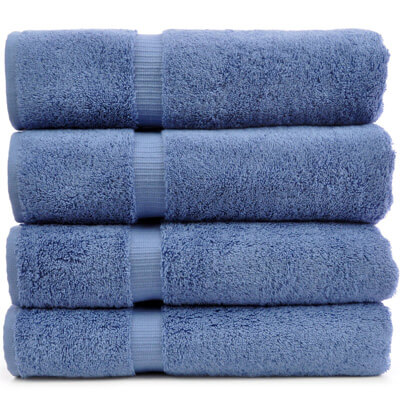 Luxury Hotel and Spa Towel 100 Percent Genuine Turkish Cotton , Wedgewood