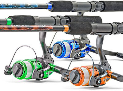 Worm Gear Spinning Fishing Combo
