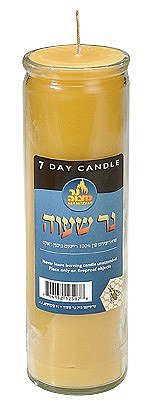 7-Day Pure Beeswax Candle