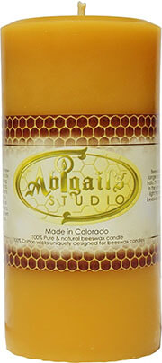 Abigail's Studio Beeswax Candle, 6''