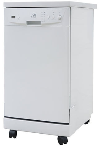 SPT SD-9241W White Portable Dishwasher