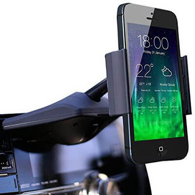 Koomus CD-Air CD Smartphone Car Mount Holder Cradle for iPhone and Android Devices