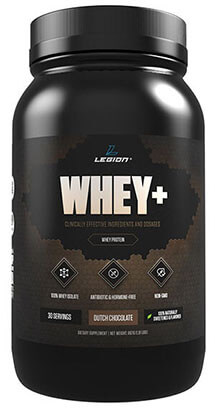 Legion Whey+ Chocolate Protein Powder - Best Tasting All Natural Whey Isolate Protein Shake