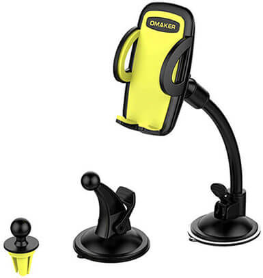 Omaker 3-in-1 Universal Car Phone Mount Phone Holder Cell Phone Car Air Vent Holder