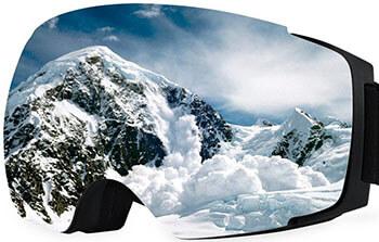 BTOOP Snow Ski Goggles Snowboard Goggles Anti-Fog UV Protective Detachable Lens
