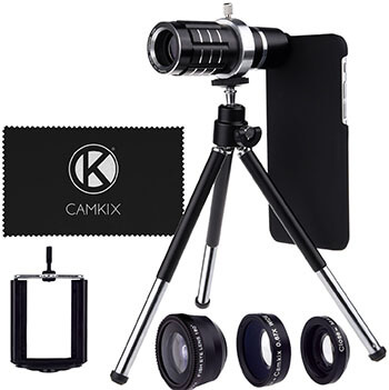 CamKix Lens Kit with 12x Telephoto Lens