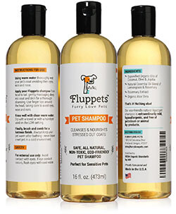 Certified Organic Pet Shampoo from Fluppets