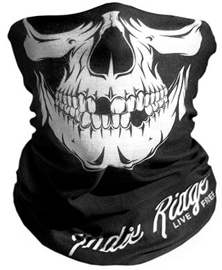 Indie Ridge Microfiber Polyester Skull Outdoor Winter Face Mask