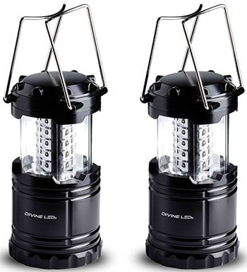 Divine LEDs Bright 2 Pack Portable Outdoor LED Camping Lantern