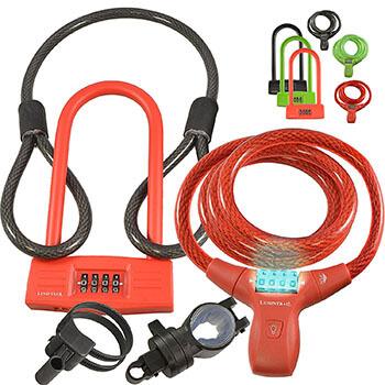 Lumintrail Bike Combination Cable Lock and U-Lock Combo