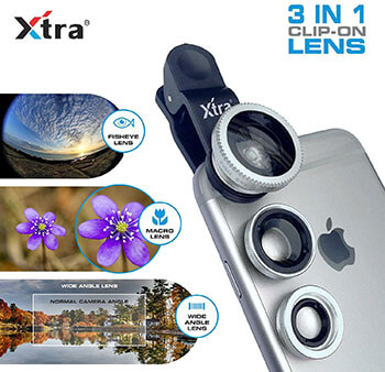 Xtra Clip-On Silver 3 in 1