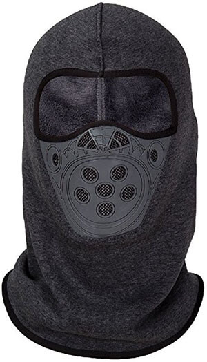 Only U Gray Balaclava Premium Full Face Mask