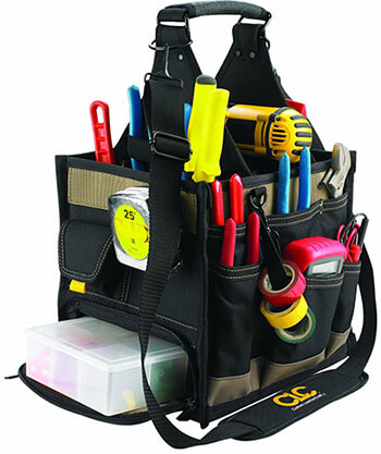 Custom LeatherCraft 1528 23 Pocket Electrician Tool Bag