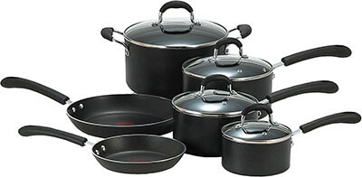 T-fal E938SA Professional 10-Piece Nonstick Cookware Set