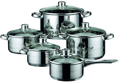 ELO Skyline Stainless Steel Cookware Pots and Pans Set