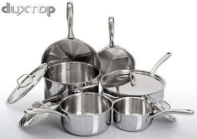 Secura Duxtop Whole-Clad Tri-Ply 10-Piece Stainless Steel Cookware Set