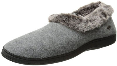 Acorn Faux Fur Chinchilla Collar Slipper
