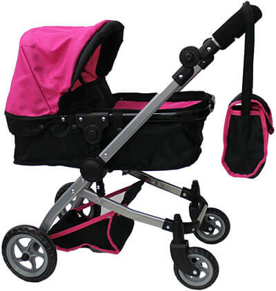 Mommy & Me 9651B Babyboo Doll Pram with Swiveling Wheels