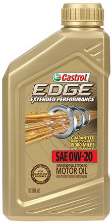 Castrol 06240 EDGE 0W-20 Synthetic Motor Oil