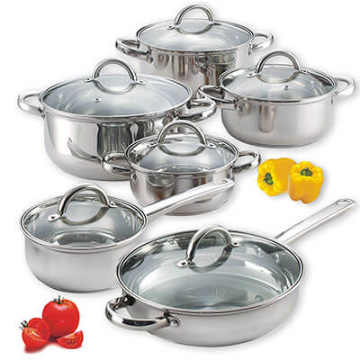 Cook N Home Stainless Steel Set 12-Piece