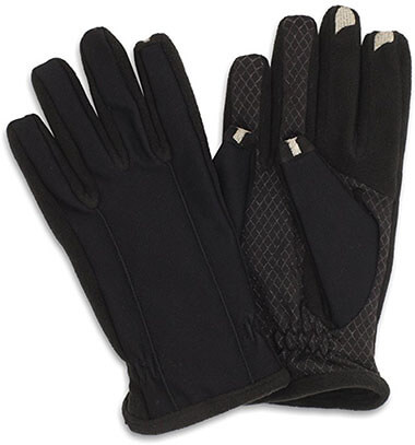Isotoner Smartouch Tech Stretch Gloves for Men