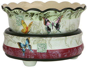 OBI Ceramic Stoneware Electric 2-in-1 Butterfly Candle Warmer